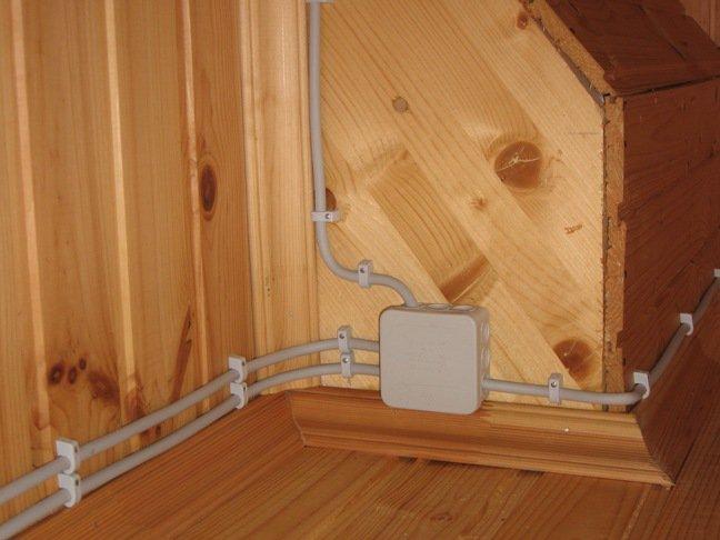 Разводка электропроводки в деревянном доме своими руками 90