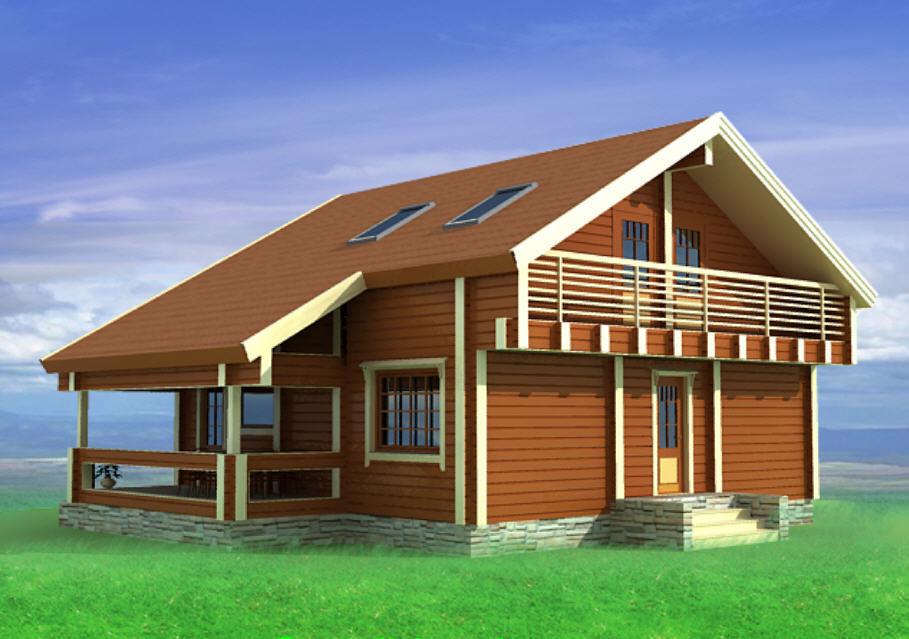 Фасады для деревянного дома