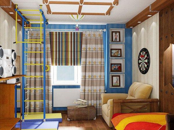Дизайн детской комнаты для мальчика 9