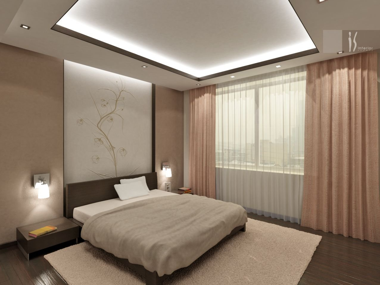 Дизайн спальни фото простой