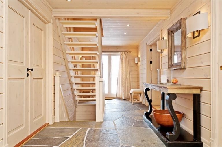 Дизайн интерьер деревянного дома