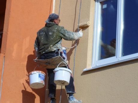Образцы покраски фасадов деревянных домов фото
