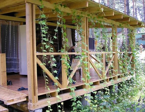 Как построить открытую веранду к дому своими руками фото