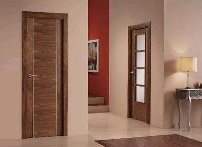 двери в квартиру входные из шпона дерева